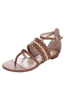 Sandale maro ALDO Nadya cu împletituri