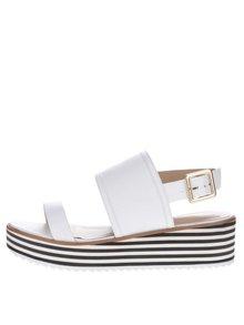 Sandale albe din piele ALDO Jin cu platformă