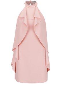 Světle růžové šaty s volány Miss Selfridge