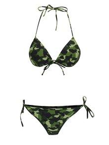 Costum de baie verde Relleciga cu model camuflaj