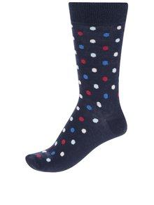 Modré unisex puntíkované ponožky Happy Socks Dot