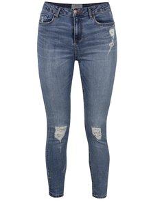 Modré džíny s potrhaným efektem Miss Selfridge