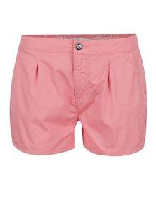 Pantaloni scurți roz pal ONLY Robyn din bumbac