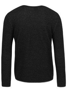 Tmavosivý melírovaný sveter Selected Homme Klop