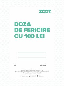 Card cadou electronic în valoare de 100 Lei