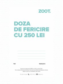 Card cadou electronic în valoare de 250 Lei