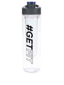 Filtračná fľaša na vodu s potlačou Loooqs Get Fit