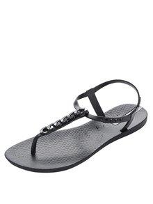 Černé dámské sandály s detailem na nártu Ipanema Sandal