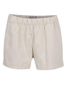 Pantaloni scurți bej Vero Moda Milo cu buzunare oblice