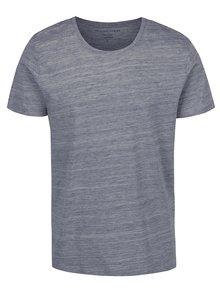 Modré žíhané triko Selected Homme Pima