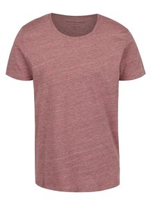Tricou roz prăfuit Selected Homme Pima cu model discret