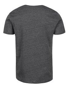Tmavosivé melírované tričko s krátkym rukávom Selected Homme Pima