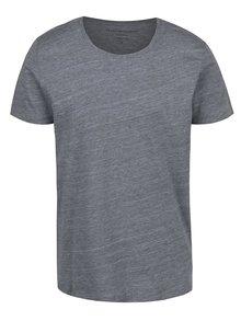 Sivé melírované tričko Selected Homme Pima