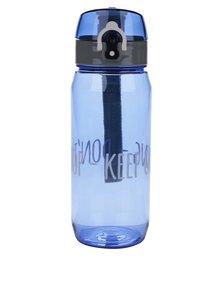 Sticlă pentru fitness albastră Looqs Don´t Stop cu sistem de blocare