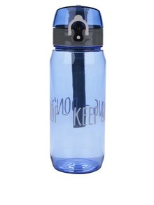 Modrá fľaša na vodu s uzamykacím systémom Looqs Don´t Stop