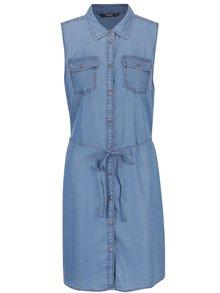 Modré džínové košilové šaty ONLY Claire