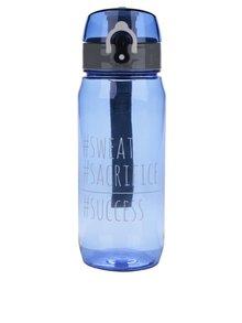 Modrá fľaša s uzamykacím systémom Looqs Sweat
