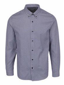 Modrá kockovaná neformálna košeľa Selected Homme Done