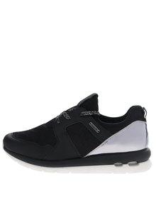 Pantofi sport negri bugatti Latina cu detalii argintii