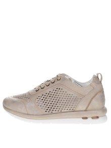 Pantofi sport aurii bugatti Latina cu perforații