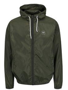 Zelená ľahká šuštiaková bunda s kapucňou !Solid Horus