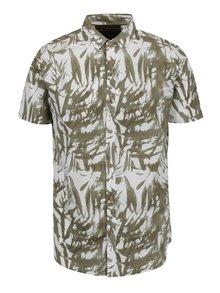 Bílo-zelená vzorovaná košile !Solid Hagen