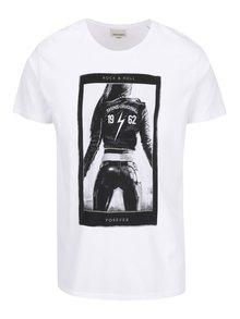 Biele tričko s čiernou potlačou Shine Original
