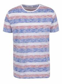 Pruhované tričko v červenej, bielej a modrej farbe !Solid Ham