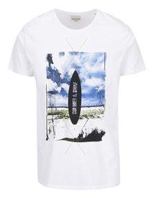 Biele tričko s farebnou potlačou Shine Original