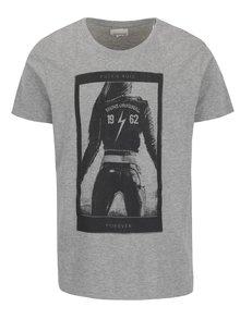 Šedé triko s černým potiskem Shine Original