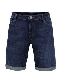 Pantaloni albastru închis Cross Jeans din denim cu tiv îndoit