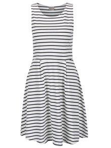 Modro-biele pruhované šaty VERO MODA Oslo