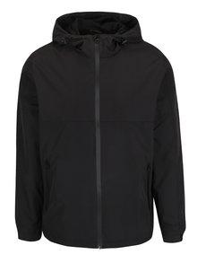 Čierna bunda s kapucňou Shine Original