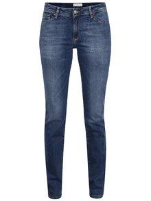 Blugi albaștri Cross Jeans Anya slim fit cu aspect prespălat