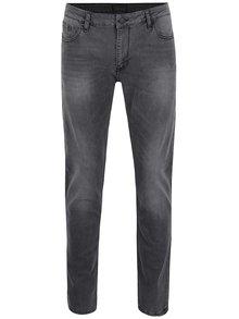 Blugi gri închis Cross Jeans Johny slim fit cu aspect prespălat