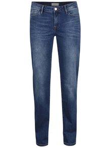 Blugi albaștri Cross Jeans Rose regular fit cu talie înaltă și aspect prespălat
