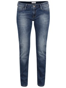 Blugi albastru închis Cross Jeans Adriana skinny fit cu aspect prespălat