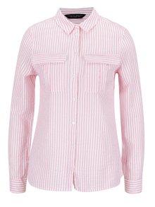 Růžová pruhovaná košile Dorothy Perkins