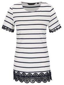 Bílé pruhované tričko Dorothy Perkins
