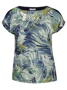 Tricou bleumarin Gina Laura cu print floral