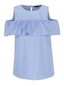Bluză bleu Dorothy Perkins cu volan decorativ