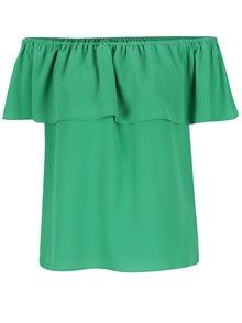Zelená blúzka s odhalenými ramenami Dorothy Perkins