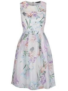 Krémové kvetované šaty bez rukávov Dorothy Perkins