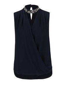 Bluză bleumarin Dorothy Perkins cu aplicații decorative