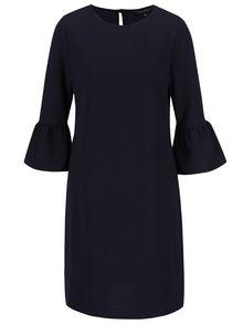 Tmavě modré volné šaty s volány na rukávech Dorothy Perkins