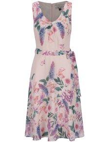 Růžové květované šaty bez rukávů Billie & Blossom
