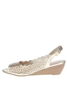 Sandale aurii Dorothy Perkins cu perforații