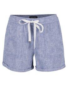 Pantaloni scurți albastru melanj Dorothy Perkins cu șnur în talie