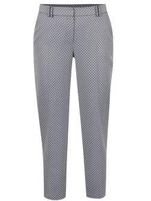 Bílo-modré vzorované zkrácené kalhoty Dorothy Perkins