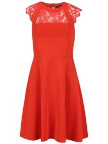 Rochie roșie Dorothy Perkins cu inserție din dantelă